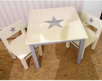 שולחן וכסאות לילדים מעץ