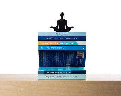 מעמד ספרים מרחף   מחזיק ספרים משעשע   קישוט ספרים למדף מדיטציה   יוגה   מחזיק ספרים רוחני   Levitation   ארטאורי דיזיין