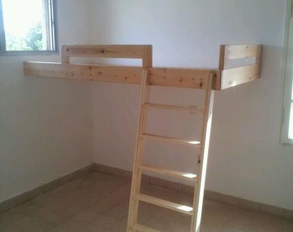 מיטת גלריה מעץ לילדים