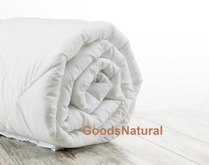 שמיכת צמר כבשים / שמיכה זוגית חורפית במילוי צמר כבשים