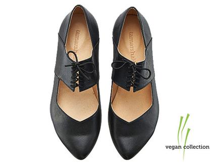 VEGAN נעלי בלרינה, ויקי שחורות - טבעוניות!