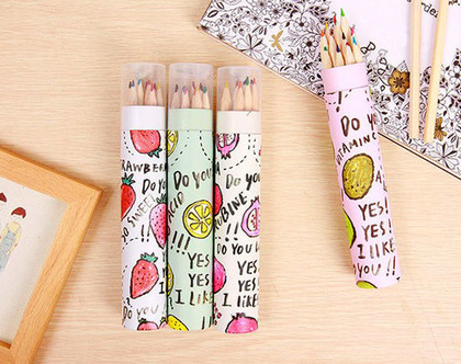 עפרונות צבעוניים - פירות