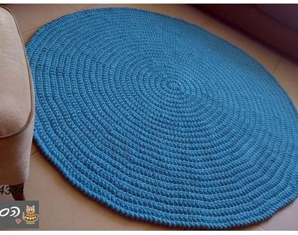 שטיח סרוג/שטיחים סרוגים/שטיח סרוג עגול/שטיח לחדר ילדים