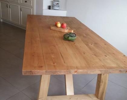 שולחן אבירים /שולחן מעץ מלא/שולחן מעץ ממוחזר/שולחן למטבח/שולחן לפינת אוכל/שולחן דגם עומר