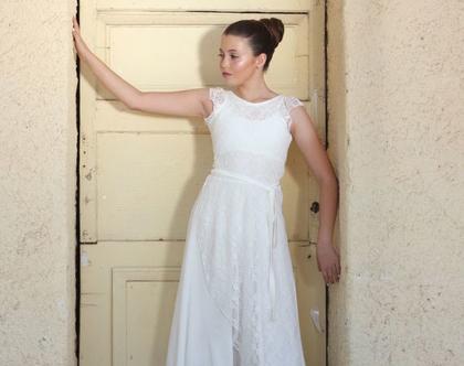 שמלת תחרה שכבות טול לבת המצווה שמלת בת מצווה עם שרוולי תחרה שמלה לארוע גב חשוף שמלה לשושבינה שמלה ארוכה עם טול לבת מצווה