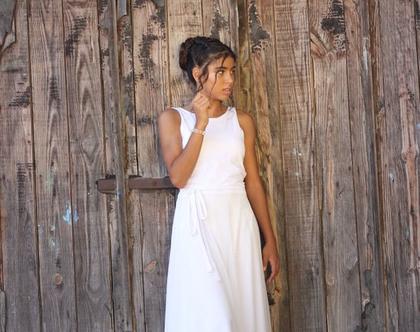 שמלה לבת מצווה גב חשוף שמלה מנצנצת לארוע שמלת בת מצווה שיפון עם חגורת קשירה שמלה לשושבינה
