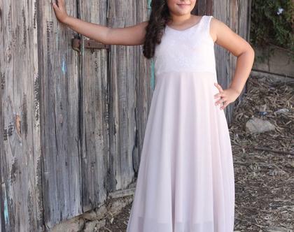 שמלת בת מצווה ורודה מנצנצת שמלה ארוכה לאירוע שמלת שכבות שיפון לבת המצווה שמלות nomiky