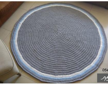 שטיחים סרוגים/שטיח סרוג/שטיח עגול/שטיח טריקו