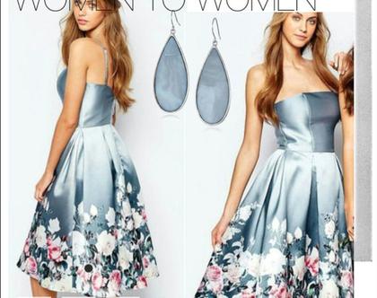 שמלה פרחונית לכל אירוע