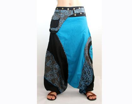 מכנסי שרוואל - אפגני תכלת