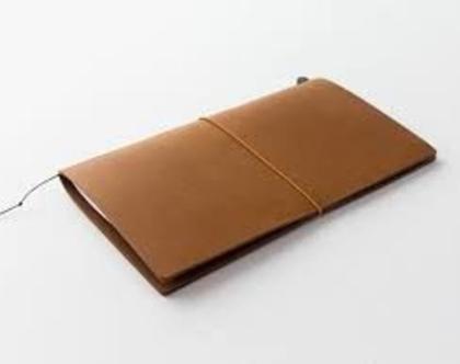מחברת מסע   Traveler's Notebook   עור כאמל