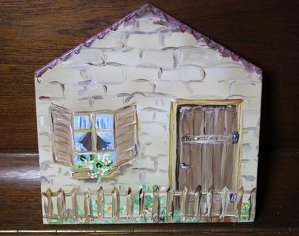 שלט לדלת כניסה בצורת בית קטן - מוכן במבצע