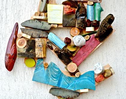 תמונה צבעונית | עיצוב בעץ | אמנות מקורית | פסיפס עץ | עיצוב הבית | עיצוב המשרד | פסל קיר | רעיון לעיצוב | עיצוב צבעוני |