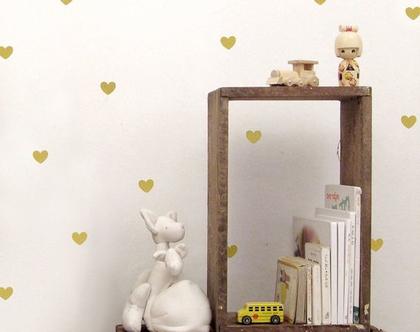 מדבקות לבבות לקיר, מדבקות קיר, מדבקות לעיצוב החדר, מדבקות מעוצבות, מדבקות לב, עיצוב חדרי ילדים