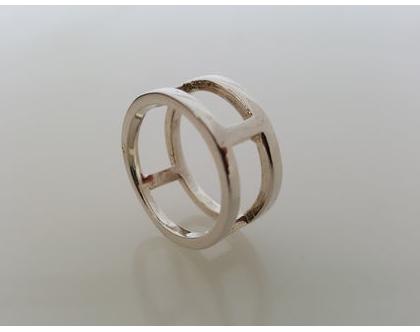 טבעת סולם מכסף 925