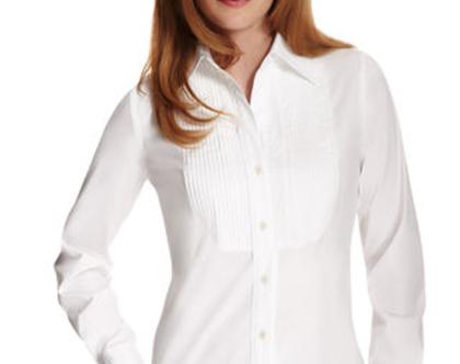 ANNE KLEIN | חולצה לבנה אן קליין
