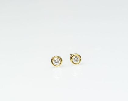 עגילי יהלום צמודים ,עגילי זהב ויהלומים, עגילי יהלום צמודים, עגילי זהב צמודים, עגילי יהלום