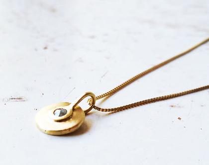שרשרת זהב 14k עם תליון משובץ דיאמנט