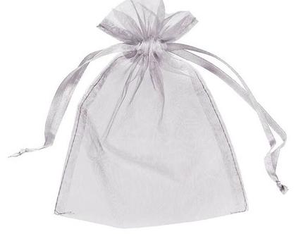 10 שקיות אורגנזה גדולות | שקיות אורגנזה | לבן |