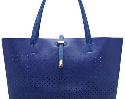 VINCE CAMUTO | תיק גדול כחול וינס קמוטו