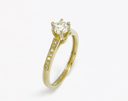טבעת אירוסין | טבעת יהלומים | בזהב 14 קאראט