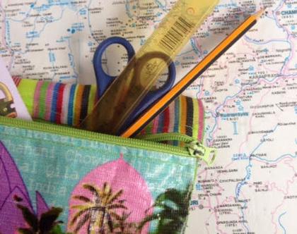 קלמר גדול,ארנק צבעוני,קייס רב שימושי,תיק מסמכים,עיצוב אתני,מתנת סוף שנה,אקססוריז לים ולבריכה