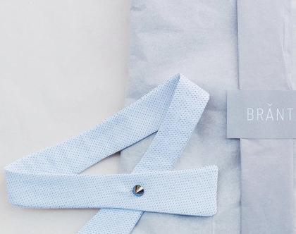 """פפיון """"אדוה""""   פפיון לבן ותפר שחור  עניבה  עניבת נשים """