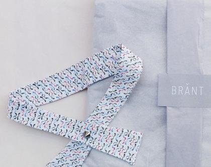 """פפיון """"אדוה""""   פפיון לבן דוגמת שלכת  עניבה  עניבת נשים """