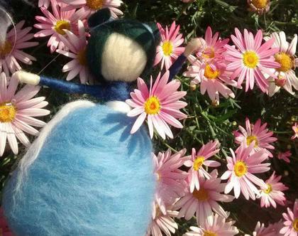 מובייל פיית החלומות, פיית הפרחים, פייה כחולה, מתנה לנערה, מתנה לאישה, מתנה ליומולדת