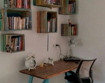פינת עבודה :שולחן ארגזים