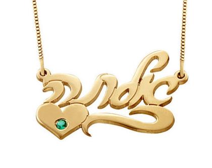 שרשרת שם עם אבן - שרשרת ציפוי זהב עם שם בעברית - שרשרת שם עם שיבוץ אבן באנגלית - תליון שם משובץ - שרשרת שם משובצת - תליוני שמות