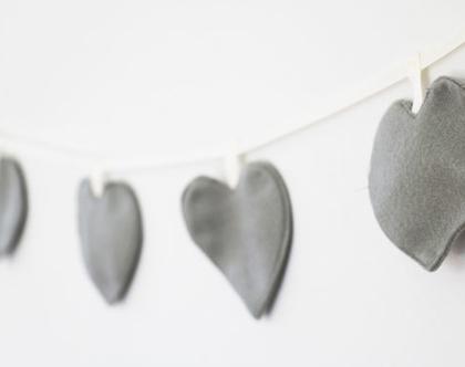 שרשרת לבבות לעיצוב חדר הילדים, גרילנדת לבבות לתלייה