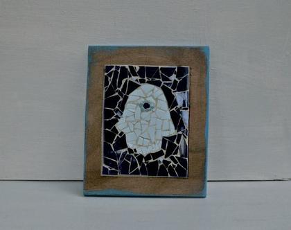 פסיפס חמסה | חמסה צבעונית | מתנה לבית | חמסה כחולה |