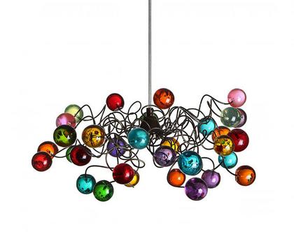 מנורת תקרה כדורים מולטיקולור