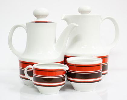 סט כלי פורצלן לקפה/תה