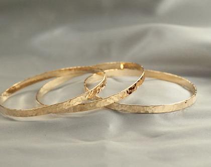 סט 3 צמידים מרוקאיים זהב 21k | צמיד רקוע| צמיד מיוחד | צמיד מרוקאי | צמיד זהב| צמיד זהב מרוקאי| צמיד עדין| צמיד זהב לחינה| ציפוי זהב