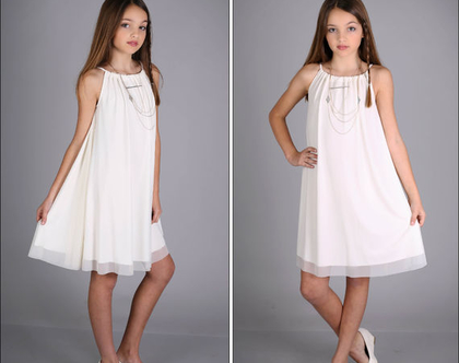 שמלת שרוך לבת מצווה בעיצוב שירן סבוראי