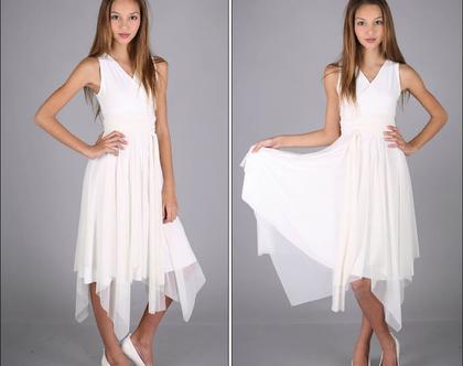 שמלת מעטפת לבת מצווה בעיצוב שירן סבוראי