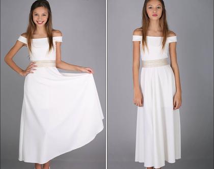 שמלת נויה ארוכה בעיצוב שירן סבוראי