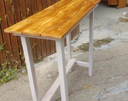 שולחן בר מעץ ממוחזר-נמכר
