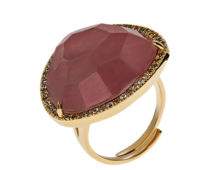 טבעת אבן טבעית מלוטשת
