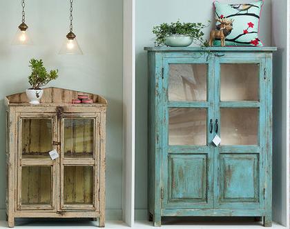 ויטרינה לסלון | ויטרינה זכוכית | ריהוט | רהיטים | ארוניות | שידות | ריהוט כפרי | ריהוט כפרי לבית | רהיטים כפריים | ארגזי עץ | ארגז אחסון מעץ