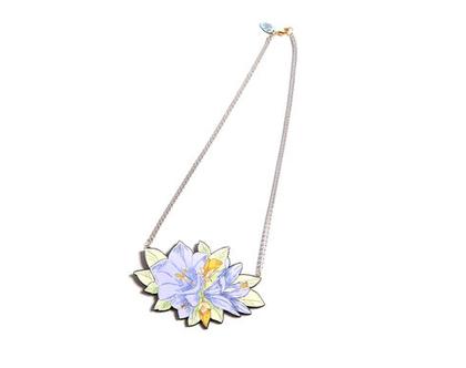 שרשרת פרחים מאוירת/ שרשרת נוכחות/ שרשרת מיוחדת