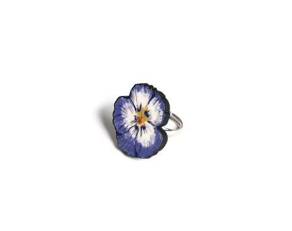 טבעת פרח/ טבעת מאוירת/ טבעת גדולה