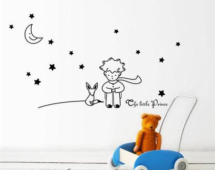 מדבקות קיר   מדבקת קיר   הנסיך הקטן   מתנה לילדה   מתנה לילד   מדבקות מעוצבות   עיצוב חדר ילדים