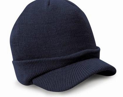כובע צמר יוניסקס | כובע לגבר | כובעים לגברים | כובע מצחיה | כובע מחמם| מתנה לגבר | מתנות לגברים | כובע מעוצב | כובע כחול כהה | כובעים כחולים