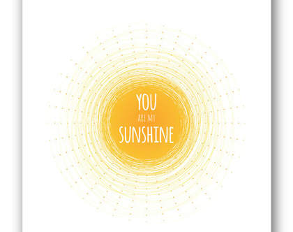 פוסטר 30/40 | You are my sunshine