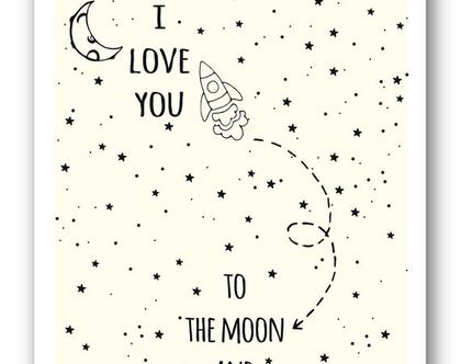 פוסטר 30/40 | I love u to the moon and back