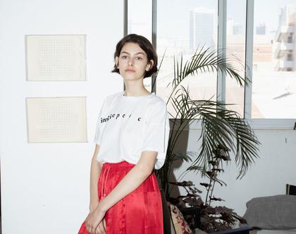 חצאית מקסי אדומה, חצאית אדומה, חצאית ארוכה, חצאית שחורה