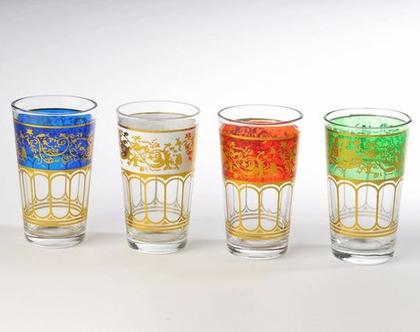 6 כוסות מרוקאיות מרהיבות